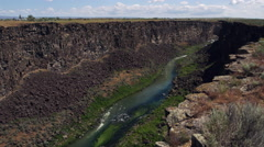 Malad Gorge slicing through Idaho landscape Stock Footage
