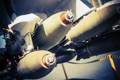 Bombs Under the Wing. - stock photo