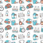 Vector modern seamless pattern texture background - stock illustration