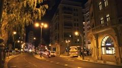 Night streets of Tel Aviv timelaps Stock Footage