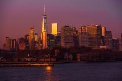Scenic Manhattan Vista in New York, USA. Stock Photos