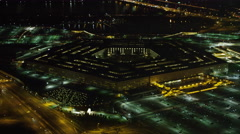 Slow approach to the Pentagon at night. Shot in 2011. Stock Footage