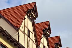 Half-timbered architecture. Fish village, Kaliningrad, Russia - stock photo