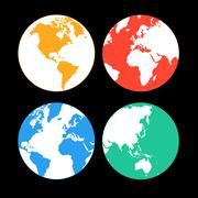 Stock Illustration of multi-colored Earth continents