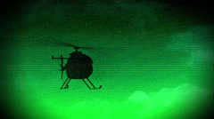 2 Nightvision helicopter night time infrared 4 Stock Footage