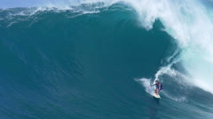 MAUI, HAWAII.  Big Wave Surfing Wipeout. Surfer Crashes on  - stock footage