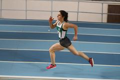 Turkish Athletic Federation Olympic Threshold Indoor Competitions - stock photo