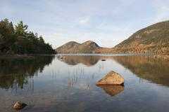 Stock Photo of Jordan Pond, Acadia National Park, Maine, USA