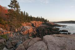 Rocky shore, Acadia National Park, Maine, USA Stock Photos