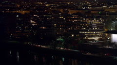 Over Watergate Complex and Foggy Bottom at night. Shot in 2011. Stock Footage