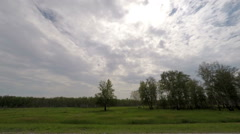 Clouds over the road. The path from Barabinsk - Kozhurla village Stock Footage