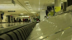 Airport baggage claim empty Stock Footage