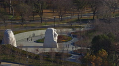 Low flight past the Martin Luther King, Jr. Memorial, Washington DC. Shot in Stock Footage