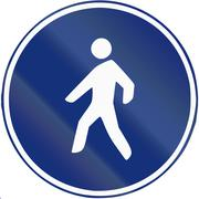 Road sign used in Spain - path reserved for pedestrians - stock illustration