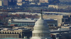 Dome of the US Capitol and surroundings, Washington DC. Shot in 2011. Stock Footage