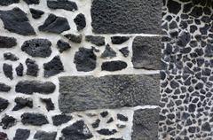 Stock Photo of Mason stone wall