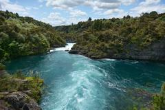 Aratiatia Rapids near Taupo - New Zealand - stock photo