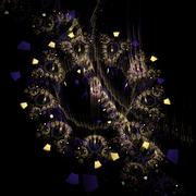 Fractal star galaxy - stock illustration