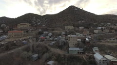 Aerial Forward of Old Jerome Arizona Mining Town Stock Footage