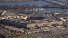 Past the Pentagon with Columbia Island Marina in background. Shot in 2011. - stock footage