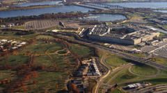 Wide view of Pentagon and Arlington National Cemetery, Virginia. Shot in 2011. Arkistovideo