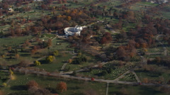 Over Arlington National Cemetery with Memorial Amphitheater and Tomb of the - stock footage
