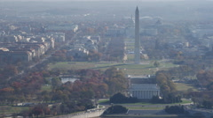 Lincoln Memorial, Washington Monument, and Capitol on the National Mall. Shot in Stock Footage