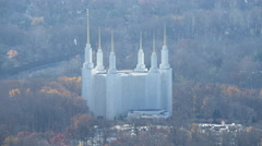 Washington DC Mormon Temple in Kensington, Maryland. Shot in November 2011. Stock Footage