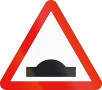 Road sign used in Spain - Speed bump - stock illustration