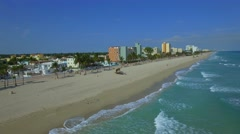Aerial video Hollywood Beach FL Stock Footage