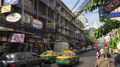 Street scene soi 11 Sukhumvit Bangkok Stock Footage