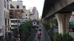 Traffic in Sukhumvit Bangkok Stock Footage