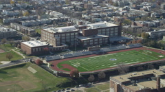 Approaching Eastern Senior High School in Washington, DC. Shot in November 2011. Stock Footage