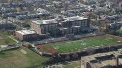 Approaching Eastern Senior High School in Washington, DC. Shot in November 2011. - stock footage