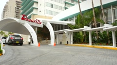 Deauville Miami Beach Stock Footage
