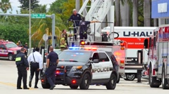 Fire in Miami Beach Stock Footage