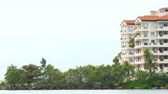 Fisher Island Miami Beach Stock Footage