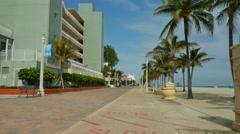 Hollywood Beach FL Stock Footage