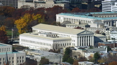US Supreme Court Building. Shot in 2011. Stock Footage