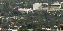 Looking from Charles and Lotte Melhorn Overlook on Mulholland Drive toward Stock Footage