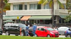 News Cafe Miami Beach Stock Footage