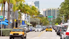 Ocean Drive 7th Street Stock Footage