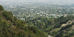 View from Charles and Lotte Melhorn Overlook on Mulholland Drive, Beverly Hills Stock Footage