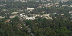 View from Mulholland Drive, Los Angeles Stock Footage