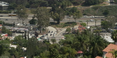 View from Mulholland Drive of Regal Place/Cahuenga Boulevard West intersection - stock footage