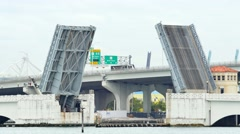 Venetian Causeway Miami Stock Footage