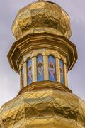 Bell Tower Far Caves Holy Assumption Pechrsk Lavra Cathedral Kiev Ukraine Stock Photos