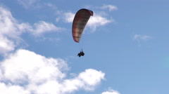 Paragliding Breaking System In Action During Flight Stock Footage