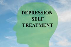 Depression Self Treatment concept Stock Illustration