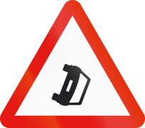 Road sign used in Spain - Accident Stock Illustration